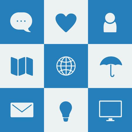 oldman: Set of flat icons for digital product design