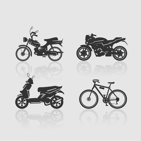 prototypes: Silhouettes nonexistent modes. Prototypes. Set bikes.