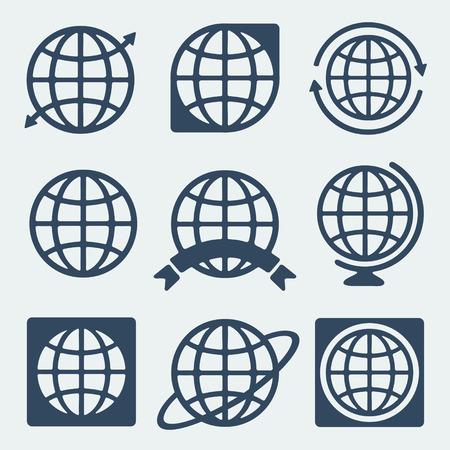 Symbol set Planet Ilustração