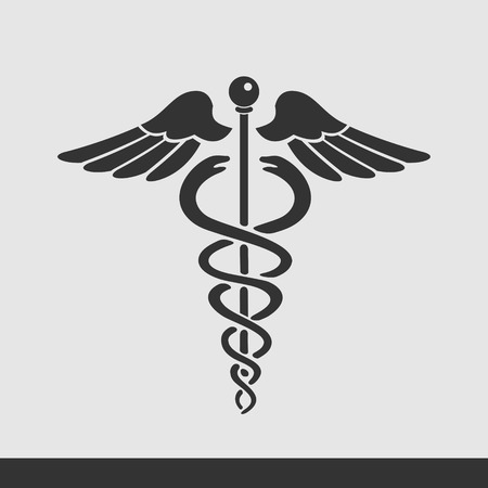 caduceo: Medicina símbolo Vectores