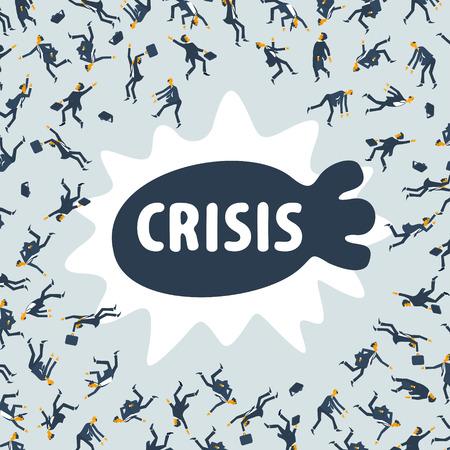 wirtschaftskrise: Wirtschaftskrise Illustration