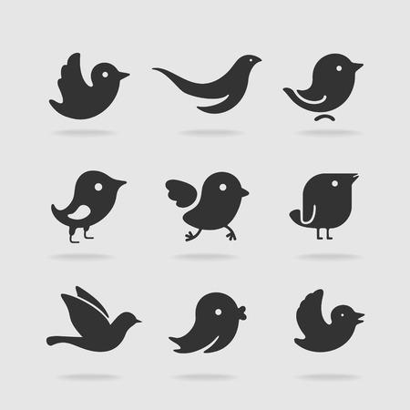 Symbol set bird Illustration