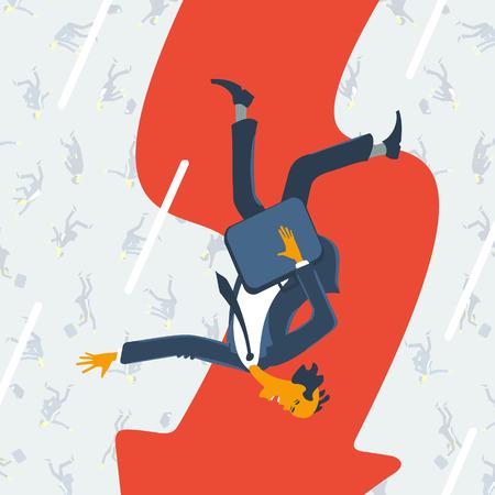 crisis economica: La gente y la crisis econ�mica Vectores