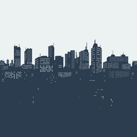 Silhouette achtergrond stad Stock Illustratie