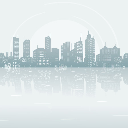 city scape: Silhouette background city