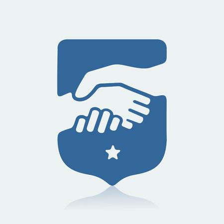 shake hand: The Handshake symbol  eps 8 file format