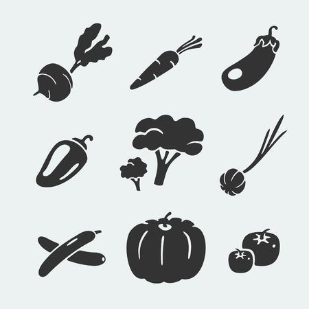carrot: Set of symbols vegetables eps 8 file format