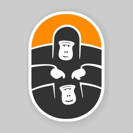 primate: Symbol primate gorilla