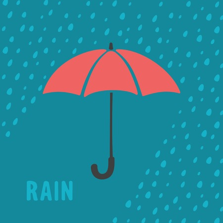 rain background: Umbrella and rain background