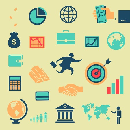 stock exchange brokers: Character set of business  Illustration