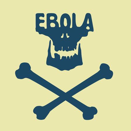 quarantine: Ebola virus symbol EPS 8 file format