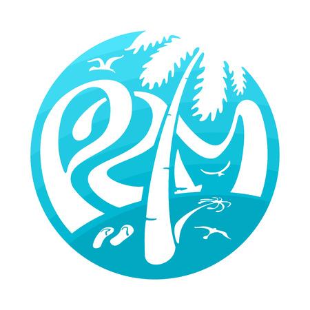 file format: Symbol Lettering Palm eps 6 file format Illustration