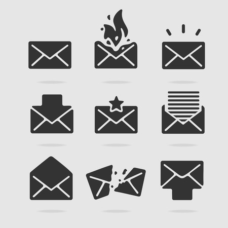 importantly: Icon Set Mail eps 8 file format