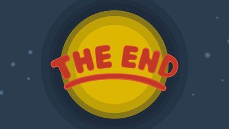 finally: The End Background Eps 8 file format Illustration