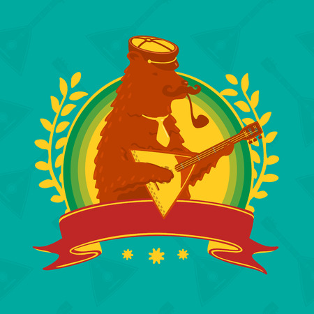 balalaika: Symbol Bear With Balalaika eps 8 file format