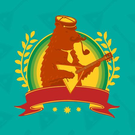 balalaika: Symbol Bear With Balalaika eps 8 file format
