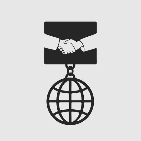 consent: Medal Handshake symbol eps 8 file format