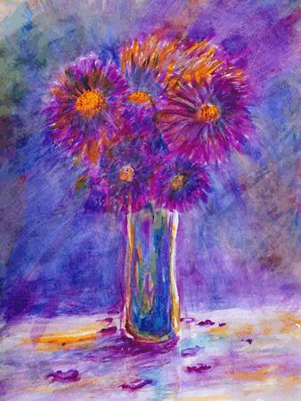 natura morta con fiori: Acquerello Still Life Fiori