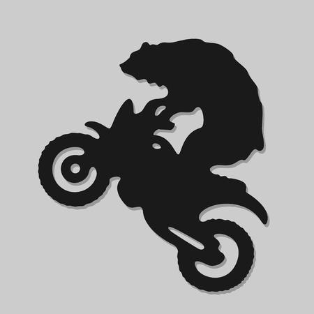 extremal: Vector Symbol Biker Bear Eps 8 file format Illustration