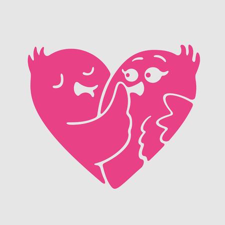 gigolo: Vector Symbol of Love eps 8 file format Illustration