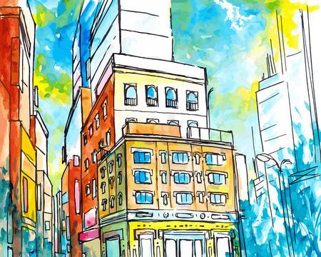 megapolis: Vector Drawing City eps 8 file format