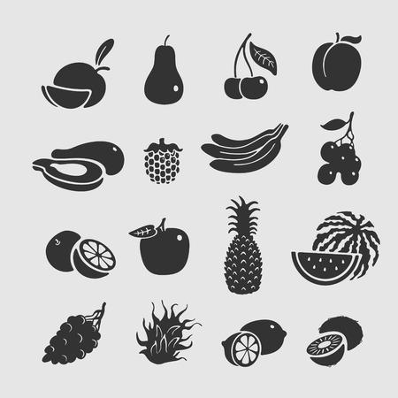 fruit du dragon: Symbole Set Vector Fruit format eps 8 de fichier Illustration