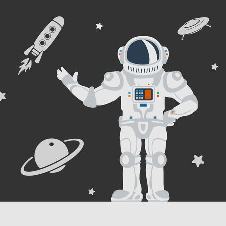 cartoon astronaut: Astronauts in Space eps 8 file format