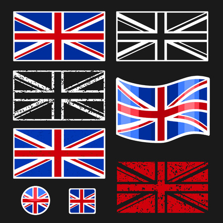 british culture: British Flag Vector Set eps 8 file format