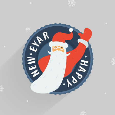 window hole: Santa Claus Vector Character eps 8 file format
