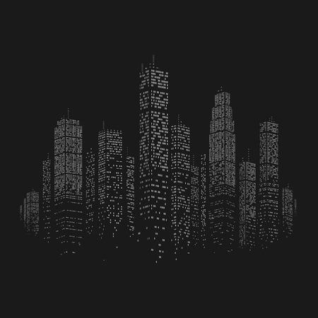 megapolis: City Skyscraper Vector Background eps 8 file format Illustration