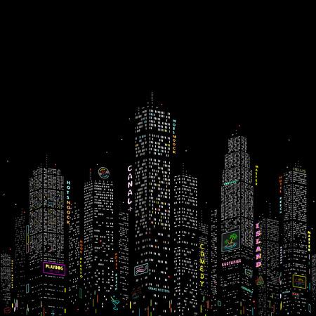 nightlife: City Skyscraper Vector Pattern eps 8 file format Illustration