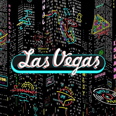 Vector Inscription Las Vegas Eps 8 file format Ilustracja