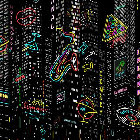 Background City Nightlife Vector  eps 8 file format Illustration
