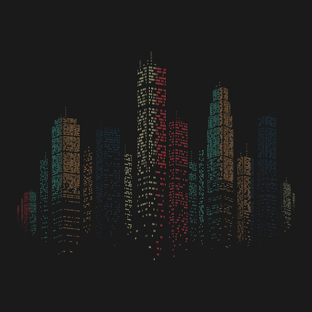 civilization: City Skyscraper Vector Background eps 8 file format Illustration