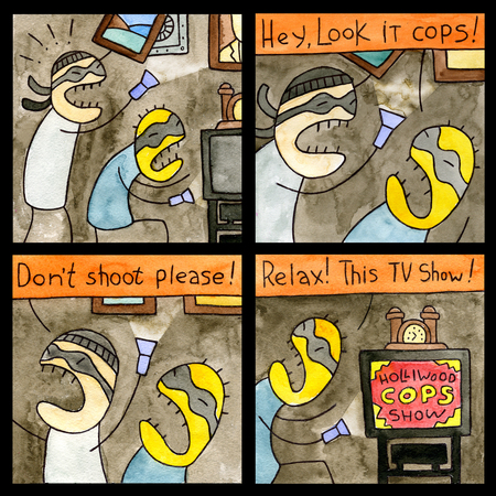 sneaky: Comic Strip Sneaky Thief