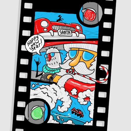 rt: New Year Comics Santa Claus eps 8 file format