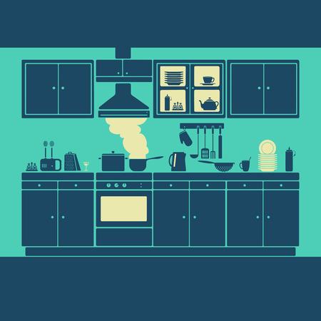 kitchen furniture: Kitchen Furniture Vector eps 8 file format Illustration