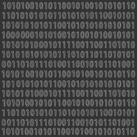 digital background: Binary Digital Signal Background Illustration
