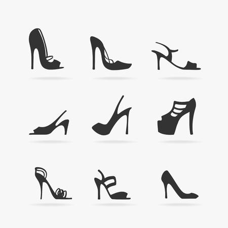 Set von Frauen-Schuhe