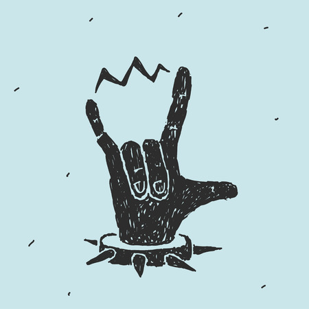 heavy metal: The Hand Symbol Heavy Metal Vector Illustration