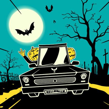 Halloween Cartoon Ilustração