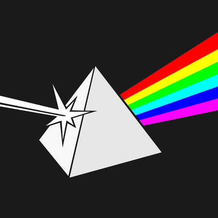 Prism and Ray of light  Illustration