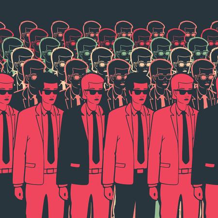 ilustración vectorial hombre de negocios Grupo clon eps 8 archivo