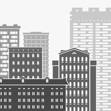 Vector Illustration City and Skyscrapers eps 8 file format Illustration