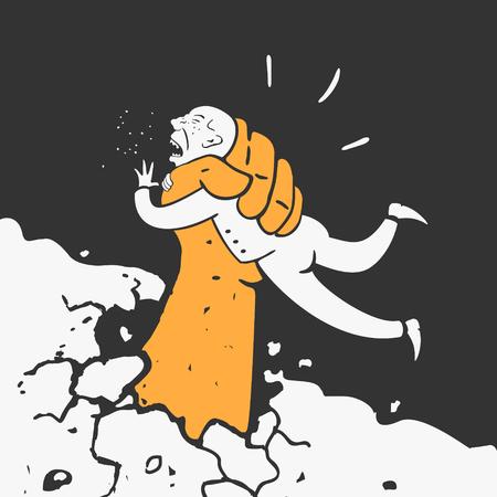 bureaucrat: Hand catch the criminal Vector Illustration eps 8 file format