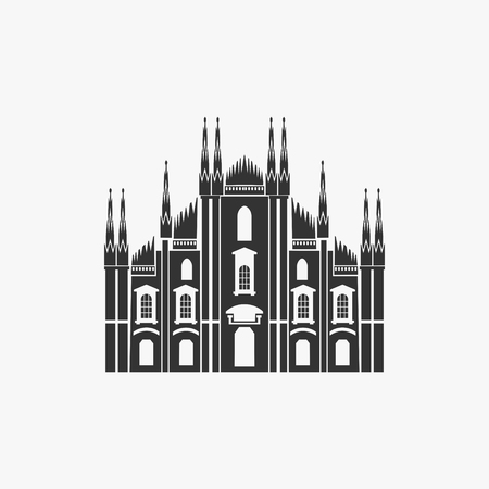 Milan Cathedral Vector Illustration