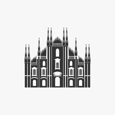 ミラノ大聖堂のベクトル図