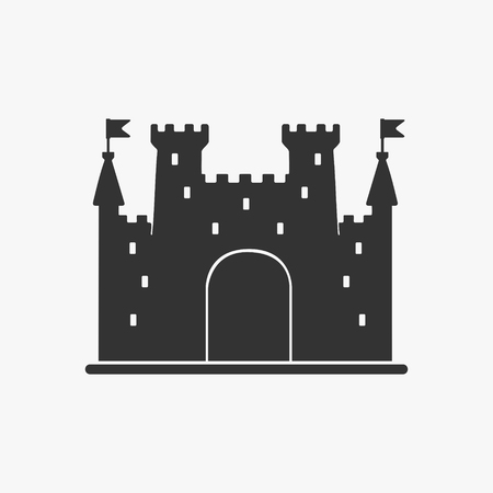 Icon Castle Vector Silhouette