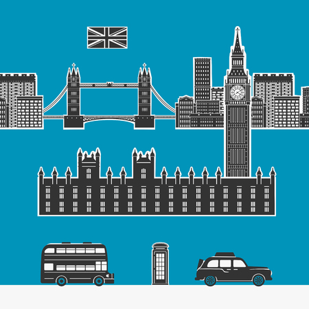 london tower bridge: England London Vector Elements