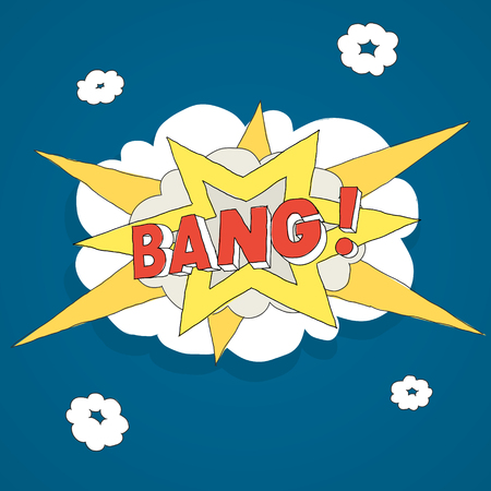 Isolated Action Explosion Bang Comics Vector Illustration